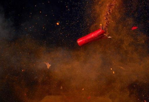 Firecracker Exploding